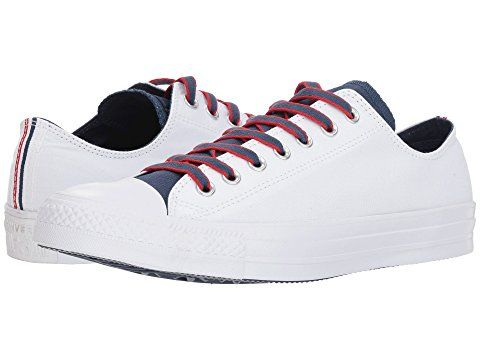 finest selection 40ea5 5251f CONVERSE Chuck Taylor® All Star® Ox - Court Prep Block, WHITE NAVY GYM RED.   converse  shoes