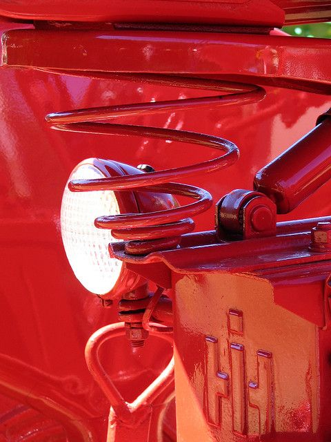 Red Tractor Detail by sammo371 on Flickr