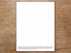 Free Printable Envelope Template  A  Wedded Bliss