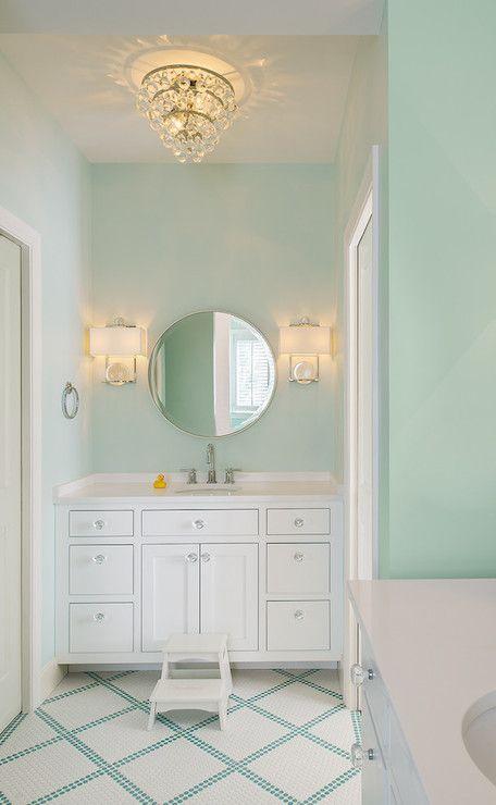bathroom paint color mint green bathroom boasts mint green walls rh pinterest com