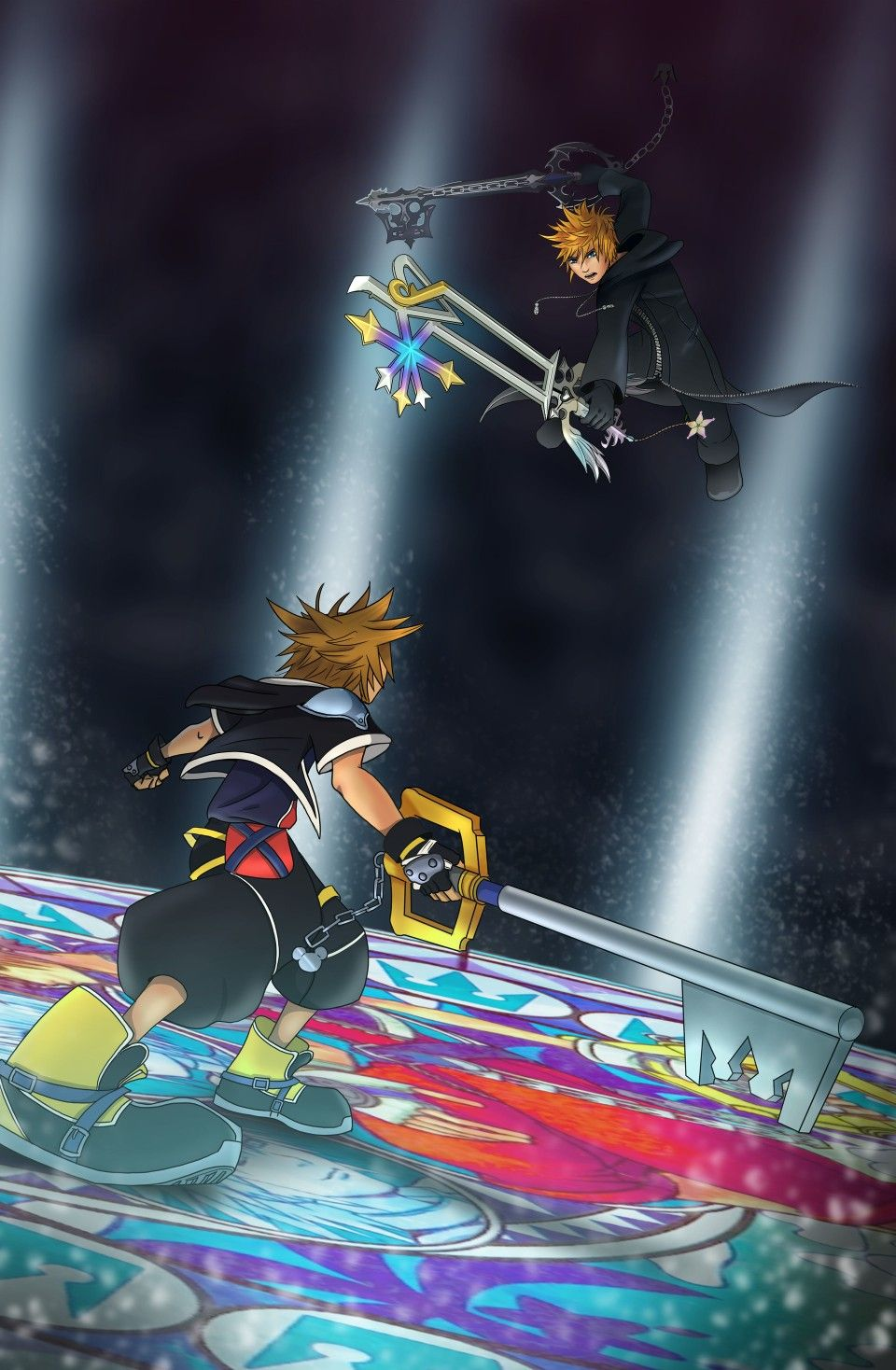 Sora Vs Roxas Roxas Kingdom Hearts Kingdom Hearts Wallpaper Kingdom Hearts Art