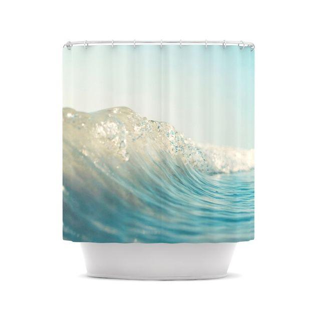 Crashing Waves Shower Curtain Dotandbo Com Decor Bedding And