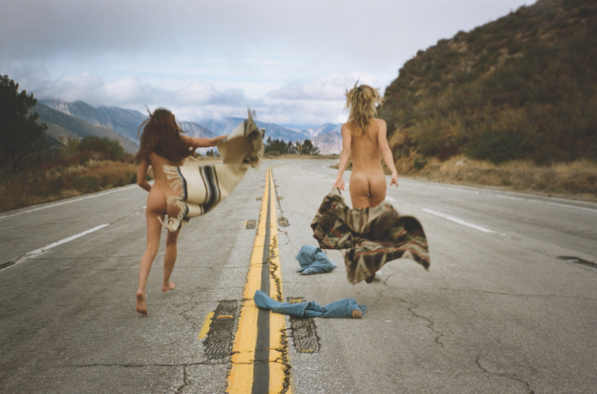 Photographer Magdalena Wosinska captures our free spirited friends Molly Steele and Lexi Stellwood in the mountains of California. via Monster Children.