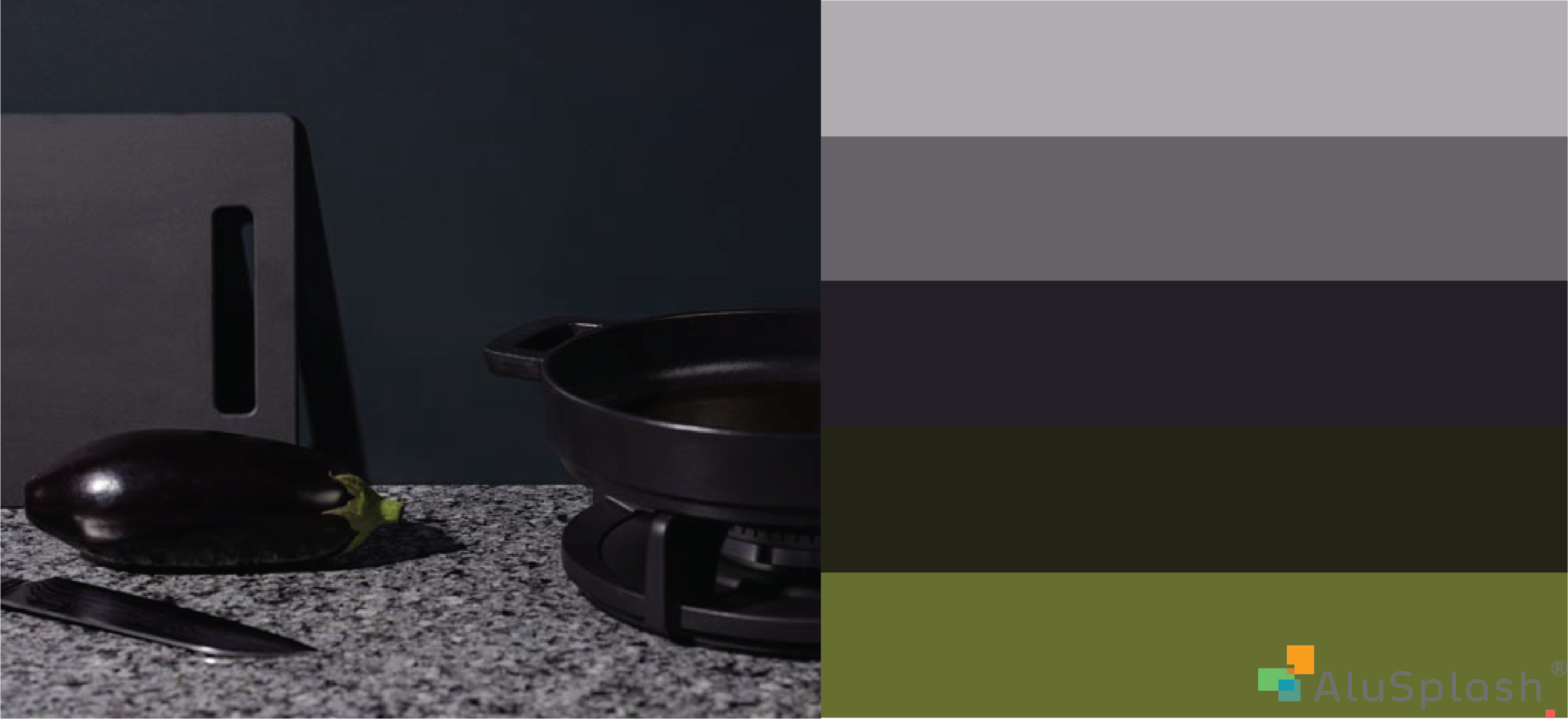 Largeur 50 cm 11 Sizes AluCouleur Composite Splashback Brushed Stainless Steel Look Height 35 cm x