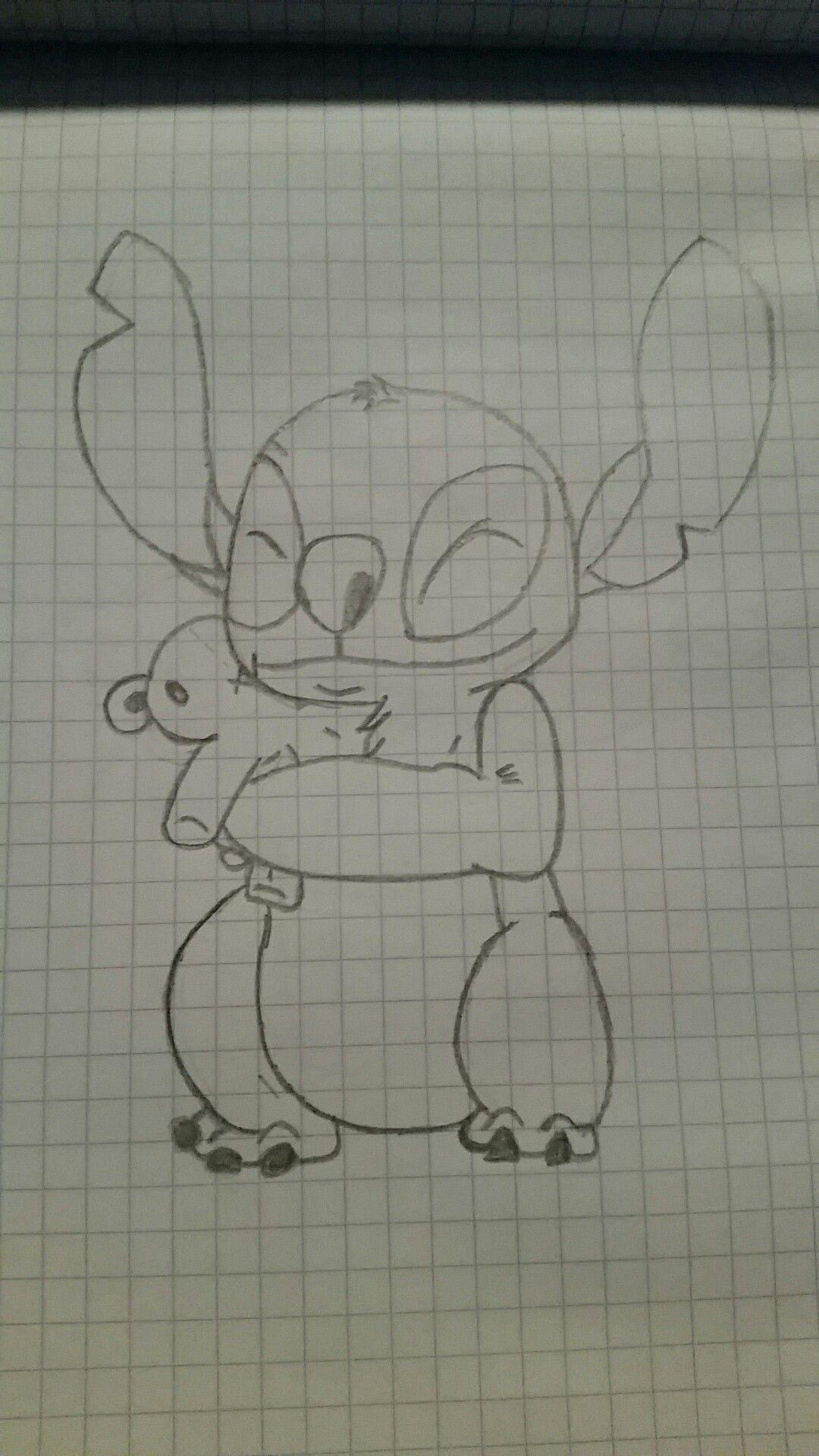 Stitch hug teddy bear