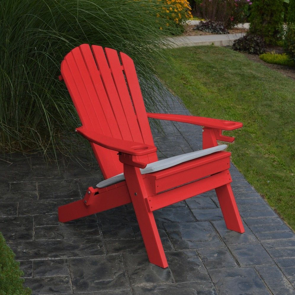 A&L Furniture Adirondack Chair with Cup Holder Recycled