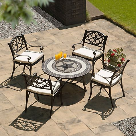 Suntime Mosaic Firepit Outdoor Dining Set Outdoor Dining Set
