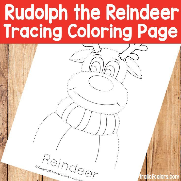 Famoso Hoja Colorante Rudolph Componente - Dibujos Para Colorear En ...