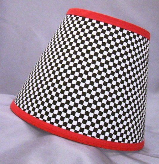 Racing Checkered Flag Lamp Shade 10 Sizes by LittleBobbyCreations ...