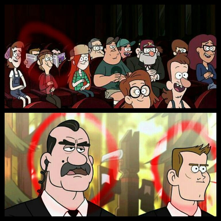 "Gravity Falls: Agent Powers & Agent Trigger in the background of the episode ""Sock Opera"""
