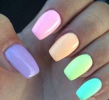 easter nails   yelp  multicolored nails luminous nails