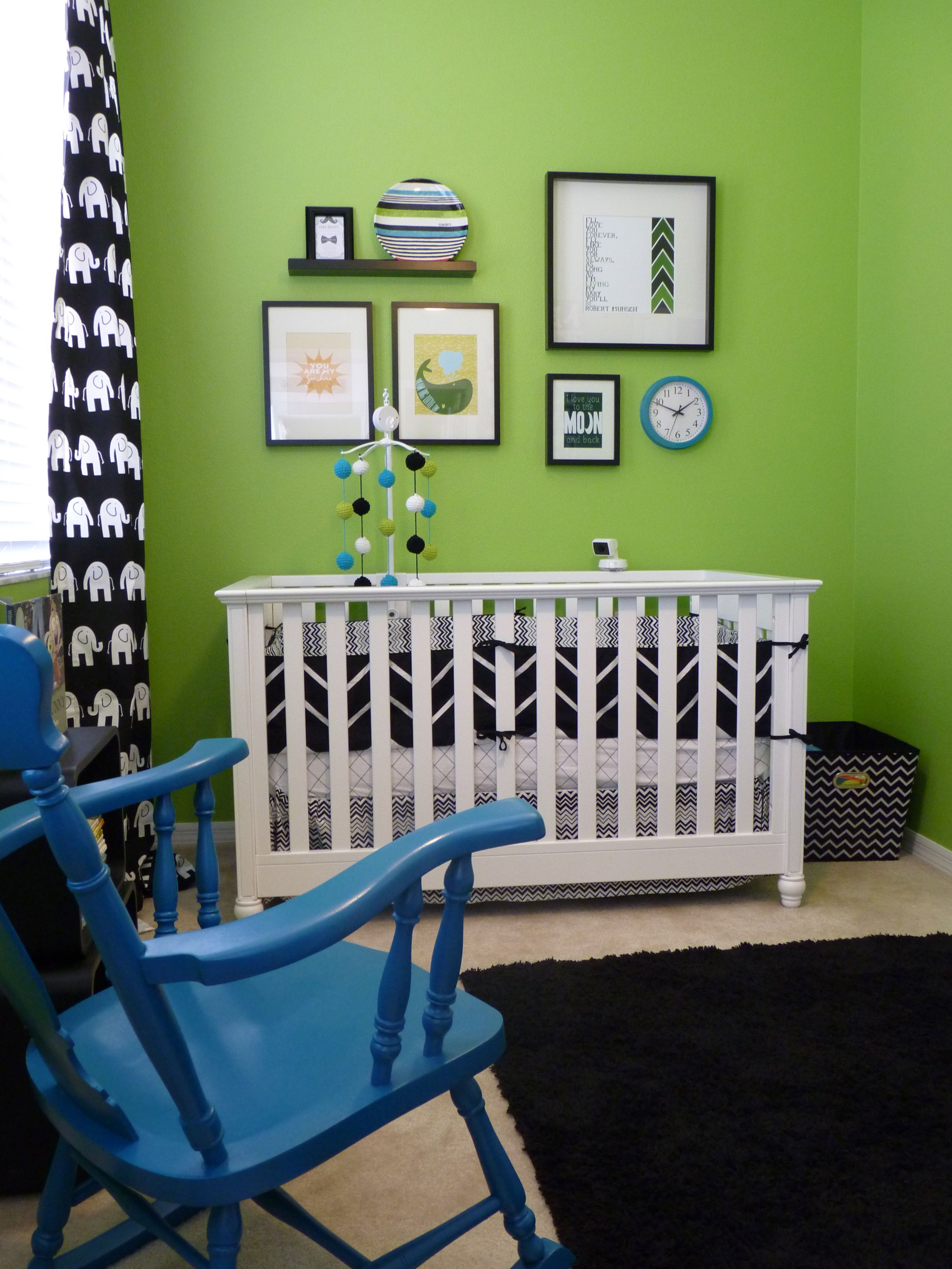 black white and very bright green nursery pinterest nursery rh pinterest com