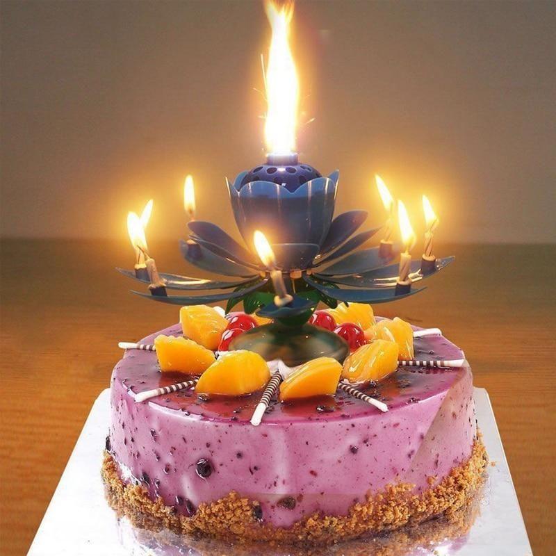 Rotating Lotus Surprise Candle in 2020 Birthday cake