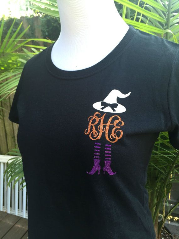 Witch monogrammed shirt Great for Halloween! Halloween t shirt - halloween t shirt ideas
