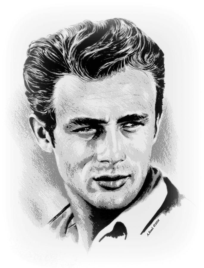 james dean drawing by andrew read drawings paintings. Black Bedroom Furniture Sets. Home Design Ideas
