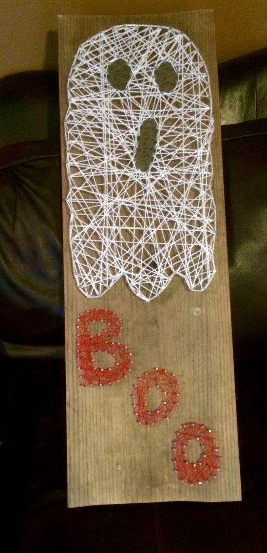Boo Ghost string art