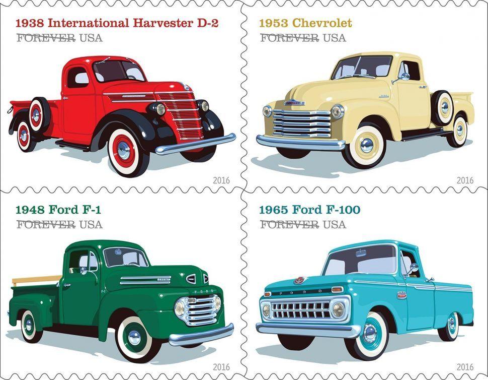 U.S. Postal Service to debut Pickup Trucks Forever stamps