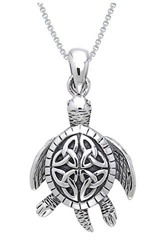 Jewelry Trends Sterling Silver Celtic Clover Shamrock of Faith Pendant