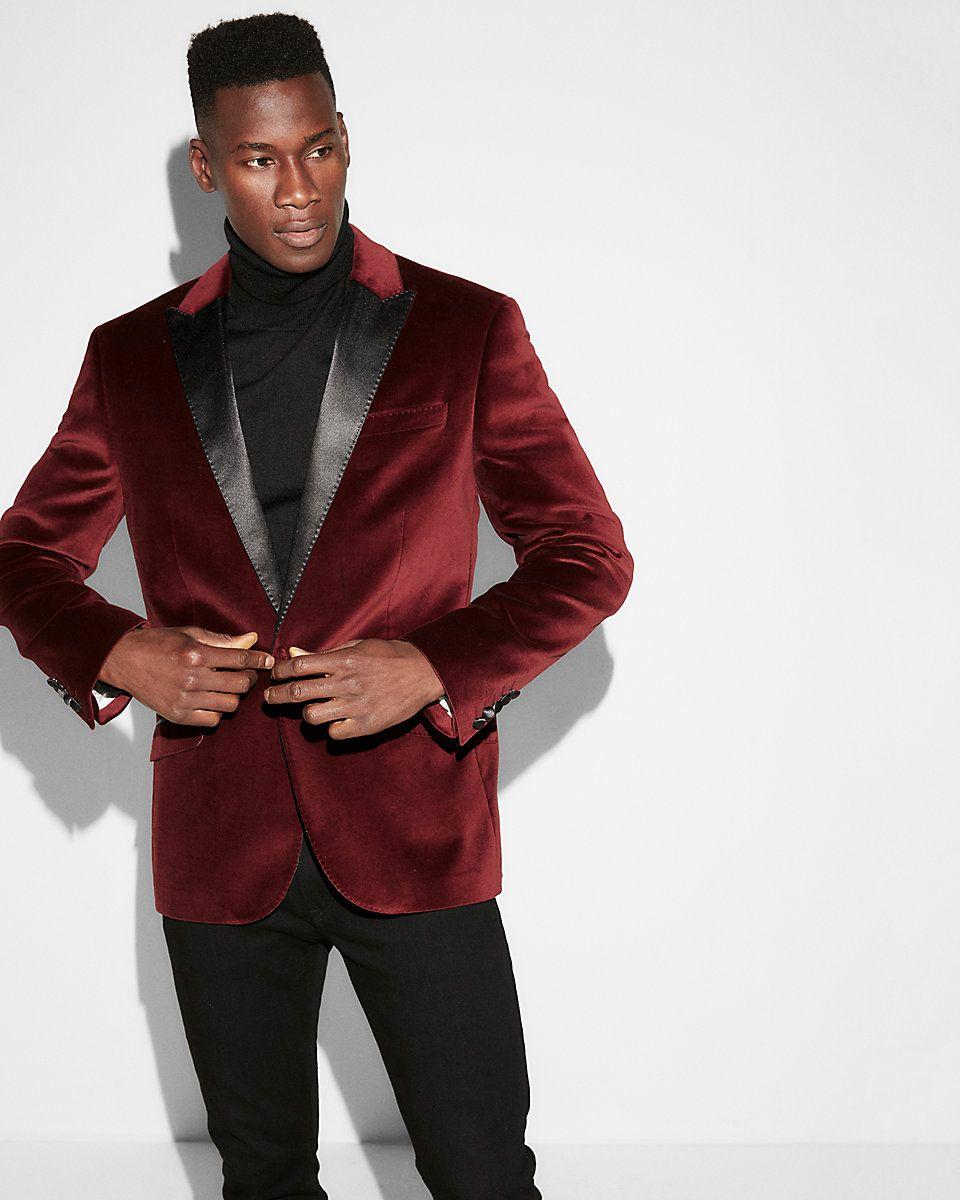 154c66b9b1e1d Slim Burgundy Velvet Cotton Tuxedo Jacket | For the Men in my Life ...