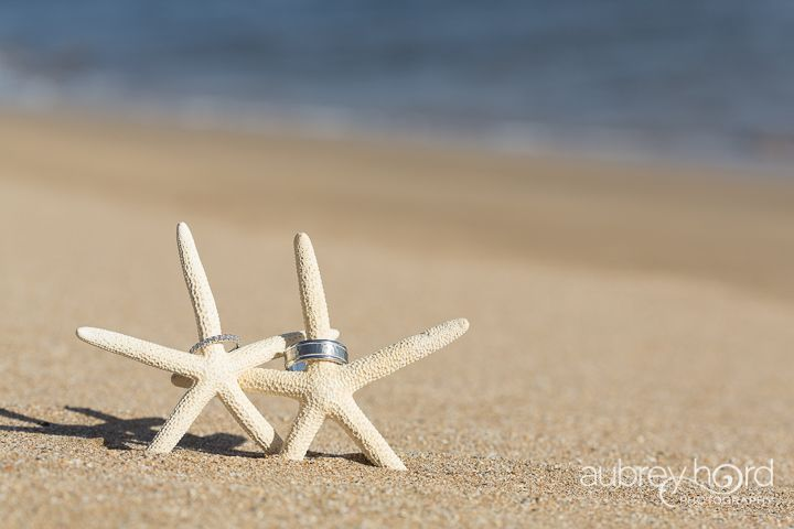 wedding bands on starfish on beach maui destination weddings