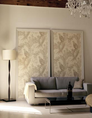 Framed Wallpaper For That Big Blank Wall Home Decor Decor Inexpensive Home Decor