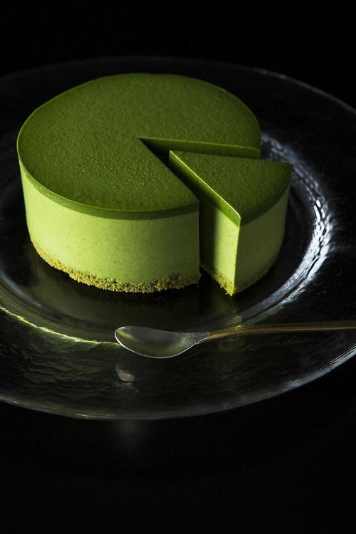Leckeres Kunstwerk Matcha Cake Matcha Torte Japanisch Kuchen