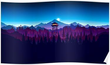 Firewatch - Landscape Poster