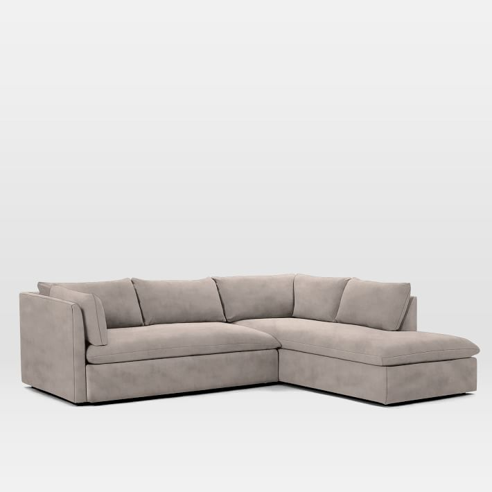 Shelter 2 Piece Terminal Chaise Sectional In 2020 West Elm Sectional Living Room Furniture Layout Sectional Sofa