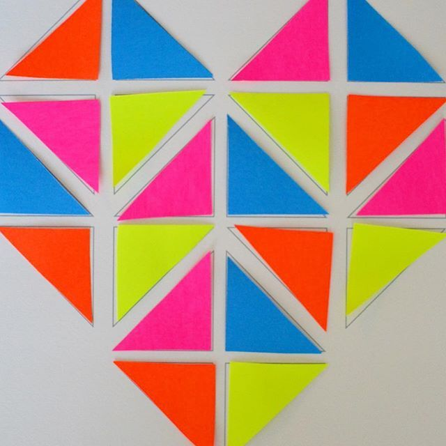Can You Make A Heart Out Of 20 Congruent Triangles Flip Turn And