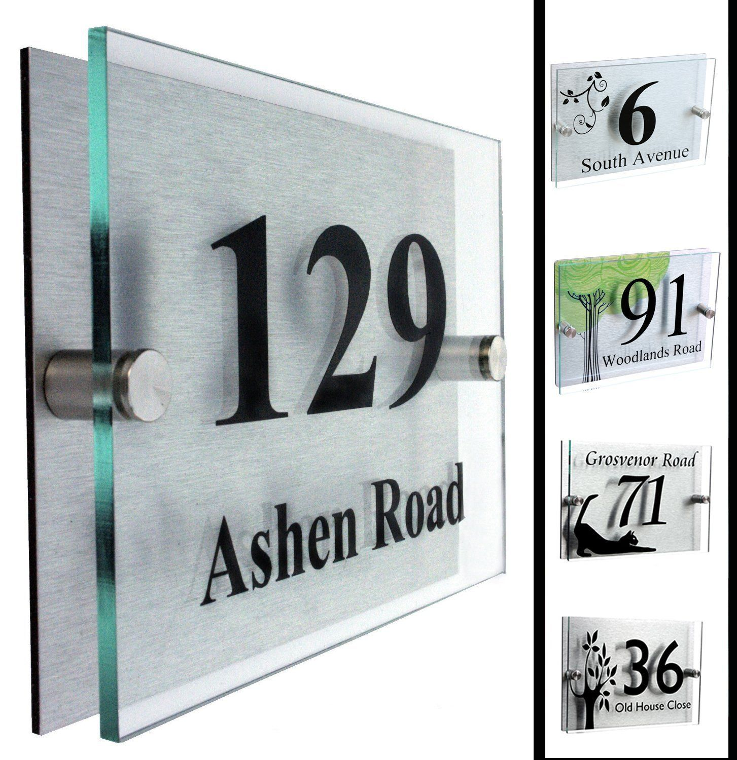 Amazon com modern acrylic address plaque house number plaque patio lawn garden