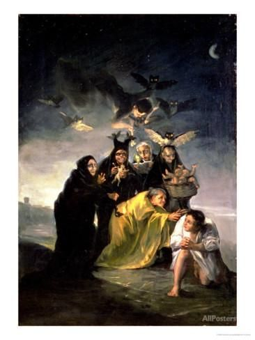 Witches Flight  by Francisco de Goya Giclee Canvas Print