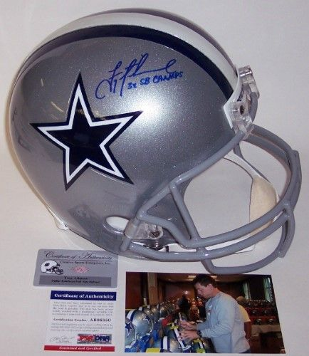 15807ede7 Troy Aikman Autographed Hand Signed Dallas Cowboys Full Size Helmet -  PSA DNA