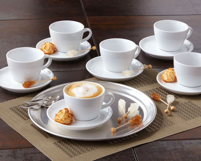 Over & Back: caffe caffe porcelain cappuccino set for 6 | Products ...