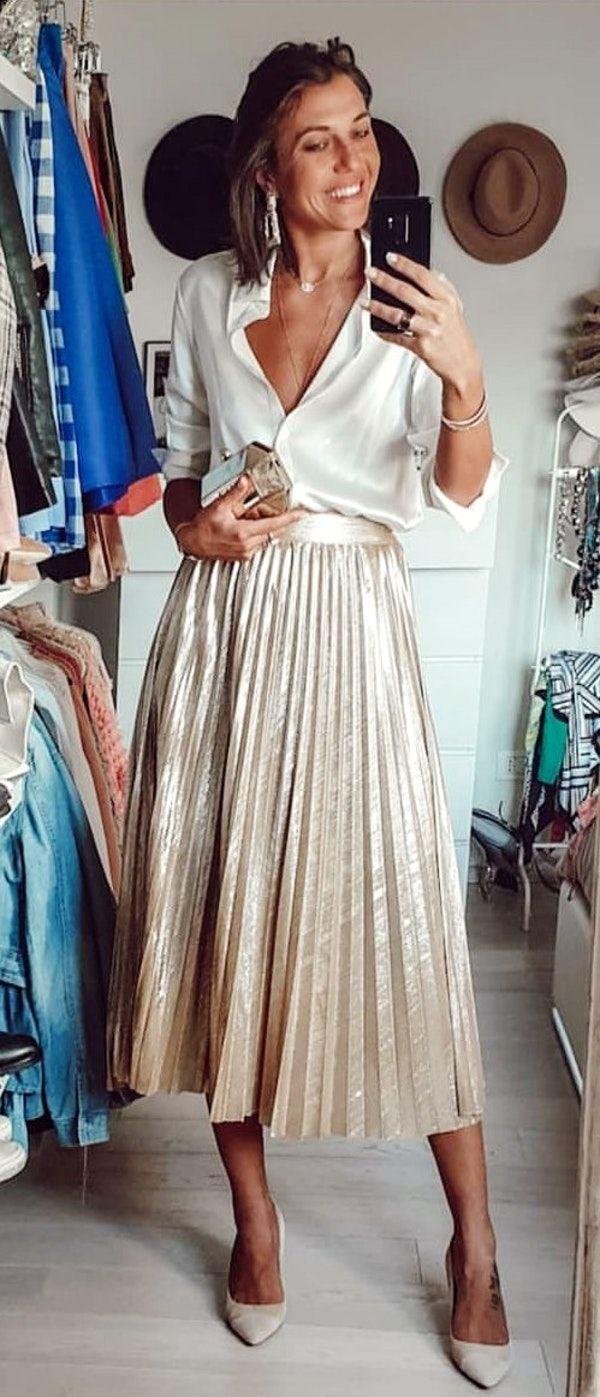 a69e37d9286c #spring #outfits white collared top | Primavera Estate 2019 | Vestiti,  Tendenze moda e Maxi vestiti