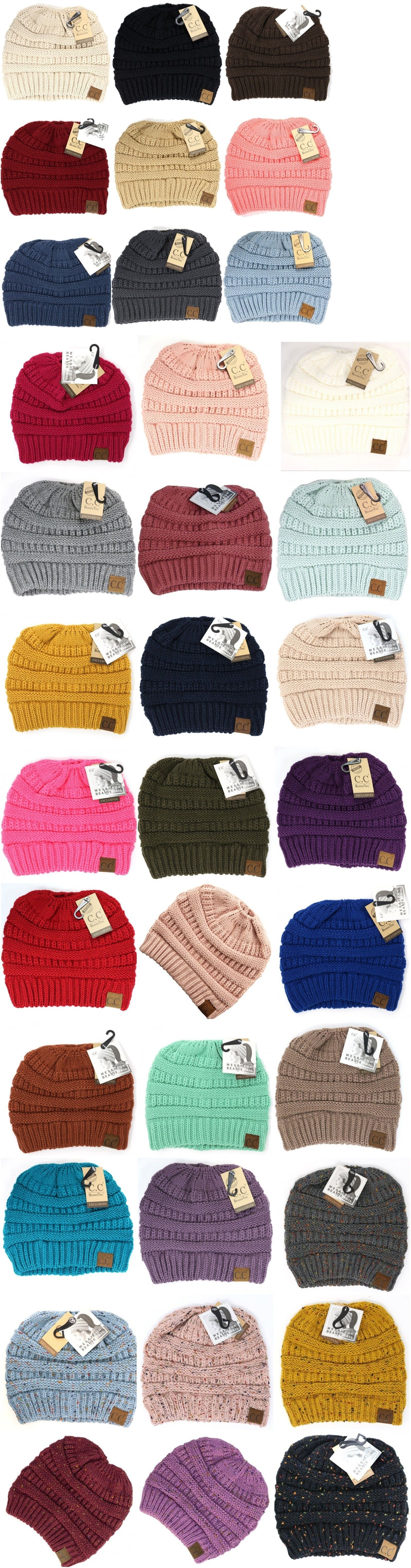 dc156ae5 Hats 45230: Cc Beanie Tail Messy High Bun Ponytail Hat Knit Beanie Cap Hole  -> BUY IT NOW ONLY: $16.99 on #eBay #beanie #messy #ponytail