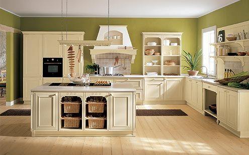 Cucina pareti verdi | Cucina | Cucine moderne, Colori pareti, Cucine ...