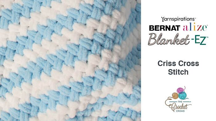 Criss Cross Bernat Blanket Ez Tutorial Crochet Crowd