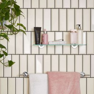 Vertical Layout Bathroom Wall Cape Town Tilespace Tilespace In 2020 Shine Tile Tile Bathroom Tile Trends