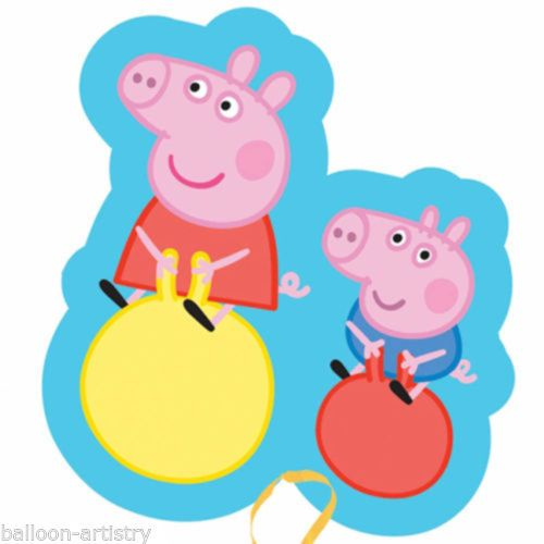 Green Peppa Pig and George Pig Foil Stickers