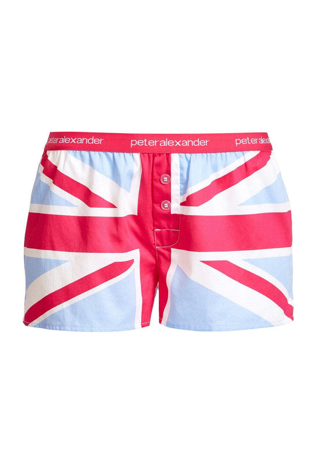 Union Jack Mini Short Peter Alexander Pajamas Women