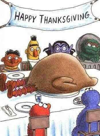 Image result for big bird thanksgiving""