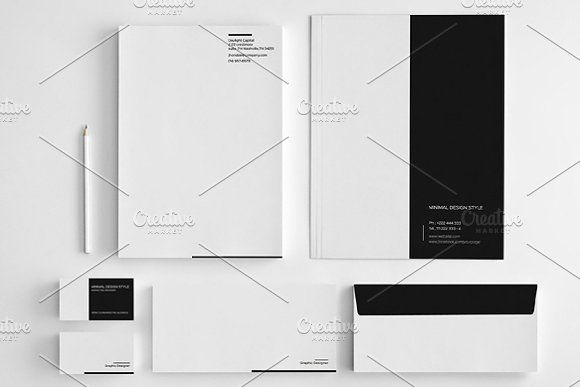 Minimal Simple Stationery by felicidads on @creativemarket