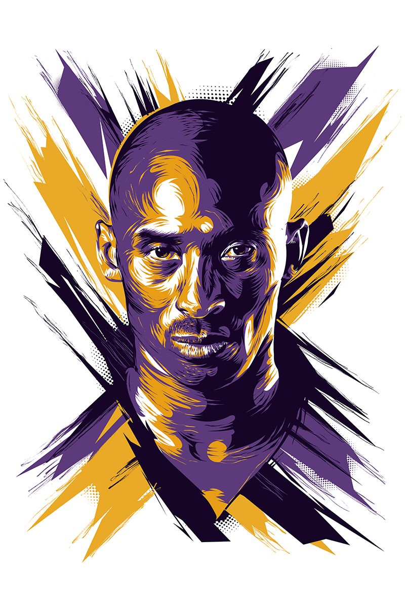 NBA Vector Posters on Behance Kobe bryant nba, Kobe