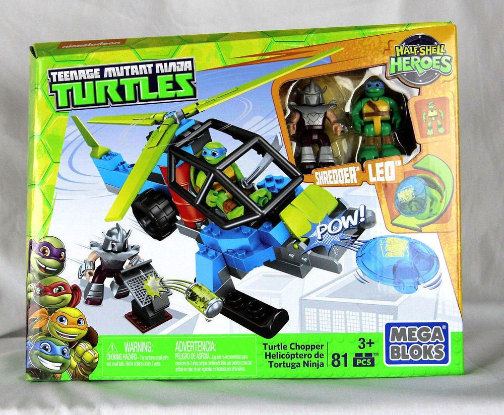 Teenage Mutant Ninja Turtles Shredder Toy : Mega bloks teenage mutant ninja turtles turtle chopper with leo and