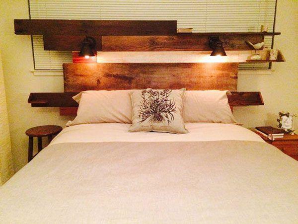 15 ideas para hacer un cabecero de cama con madera reciclada