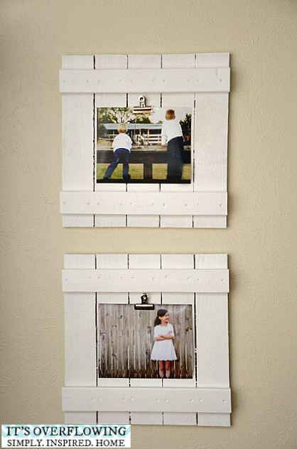 20 best DIY picture frame tutorials | Pinterest | Repurposed wood ...