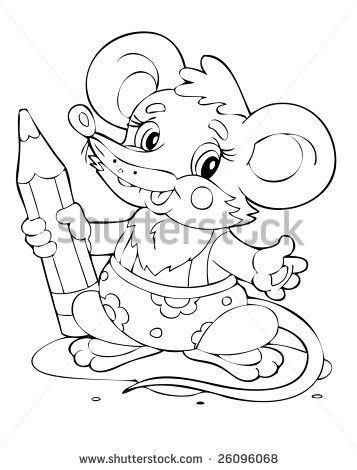 illustration of the little mouse painter