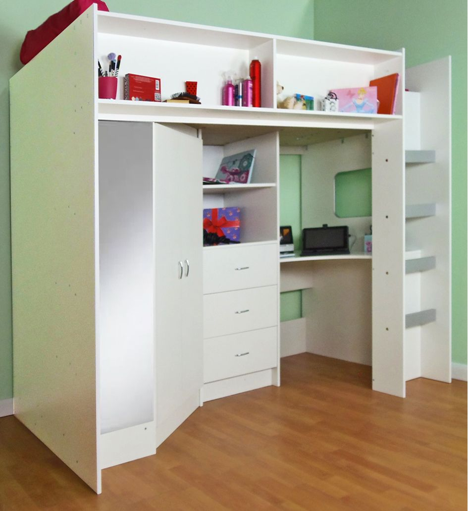 High sleeper loft style cabin bed with hideaway futon bed rutland - High Sleeper And High Cabin Beds