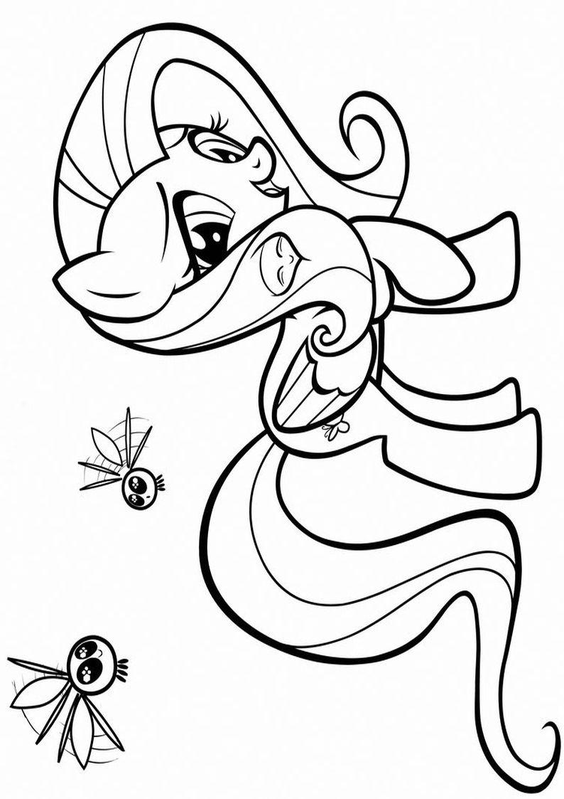 Kolorowanki My Little Pony Obrazek Fluttershy Nr 4 My Little Pony Little Pony Pony
