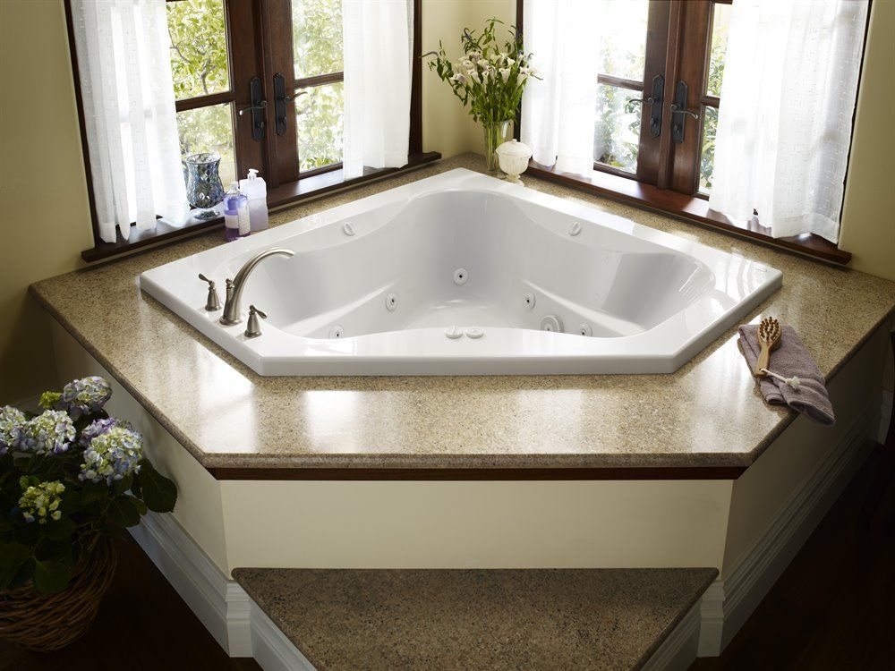 JACUZZI 60 in x 60 in Primo 2 Person White Acrylic Rectangular